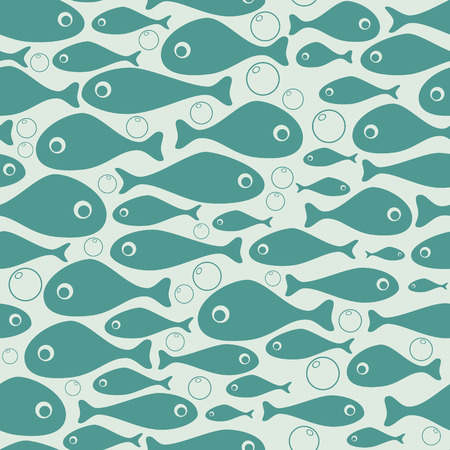 seawater: Cute fish vector seamless pattern design  Illustration