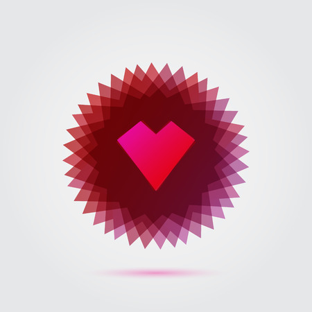 Red abstract heart shape vector