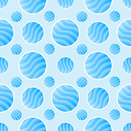 Blue polka dot pattern - abstract vector background Vector