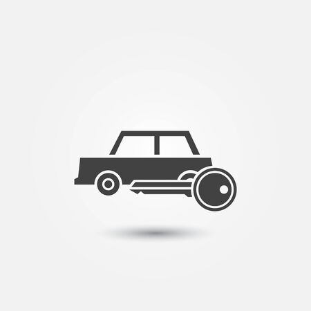 renter: Car rental icon - vector symbol