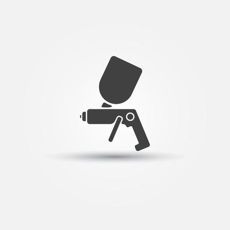 Airbrush car paint symbol - spray gun icon Vector