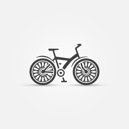 beach cruiser: Mountain bike icon - vector bicycle symbol
