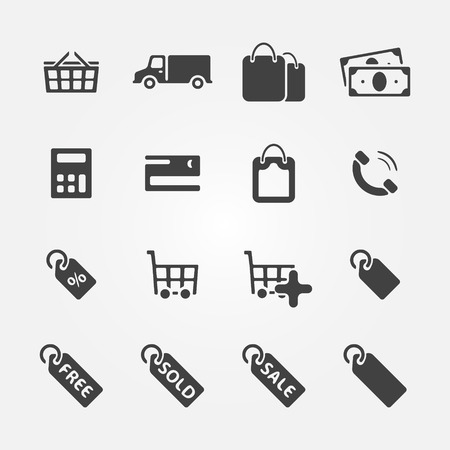 Shopping Icons - vector set of e-commerce symbols  Vector