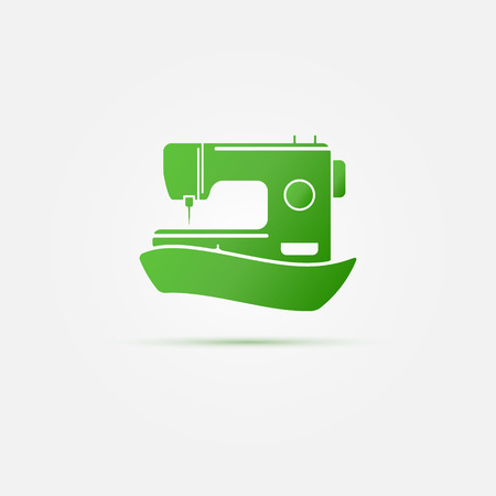 Sewing Machine Logo Vector Symbol Or Icon Royalty Free Cliparts