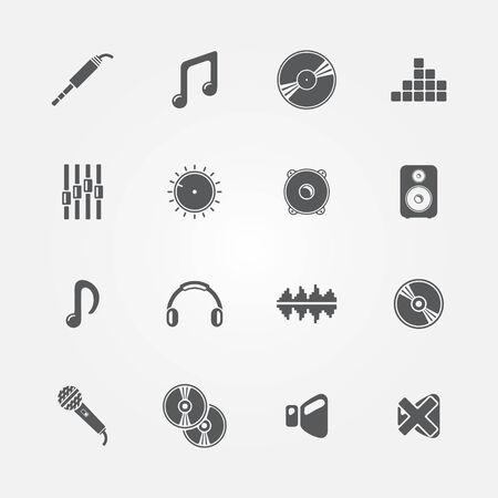 simplus: Conjunto de audio y m�sica iconos - vector abstracto s�mbolos de sonido