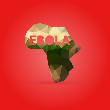 Ebola virus - illustration of africa virus in polygonal style Vector