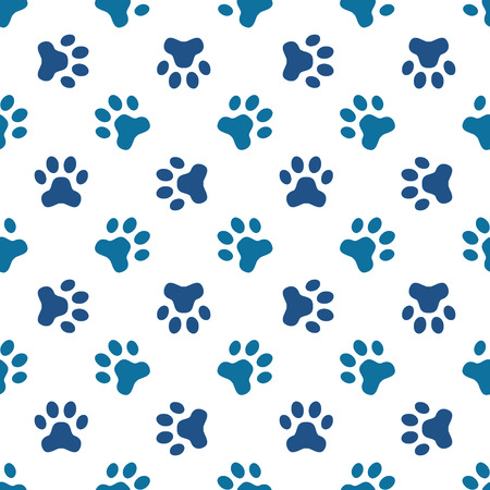 Animal footprint seamless pattern Vetores