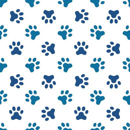 Animal footprint seamless pattern  Stock Illustratie