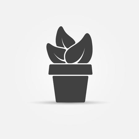 houseplant: Houseplant icon - isolated black concept
