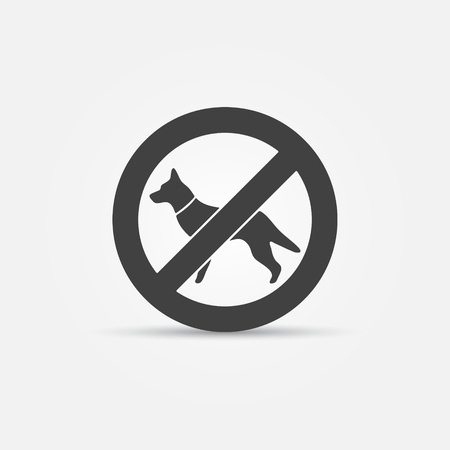 dog allowed: No dog sign - vector restrictive black icon