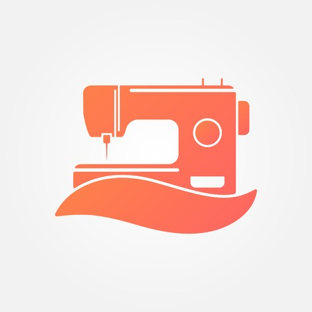 obsolete: Sewing Machine Logo - vector symbol or icon Illustration