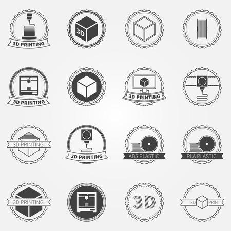3d printing emblems  Vector