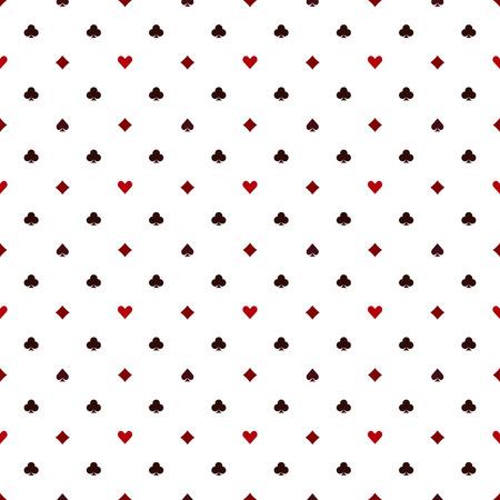 シームレスなポーカー カード スーツ - ベクトル カジノ テクスチャ パターン  イラスト・ベクター素材