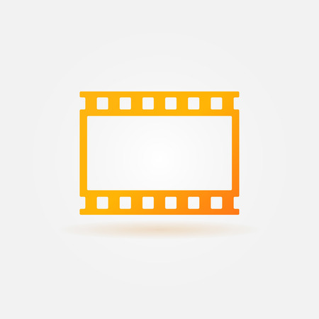 Gold film strip or tape icon - vector simple icon