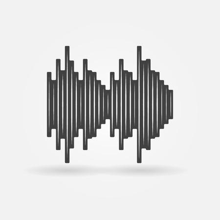 soundwave: Soundwave icon - black vector music symbol or logo Illustration