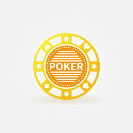 poker chip: Poker chip vector gold sign or logo
