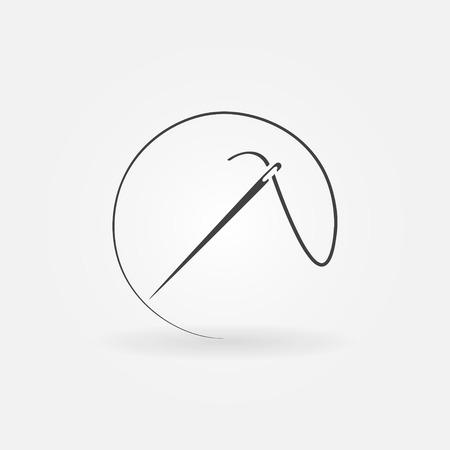 Icona Needle o logo - simbolo cucito o elemento di design Archivio Fotografico - 39705061