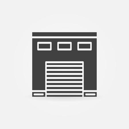 Car garage icon - black simple symbol or logo Ilustração
