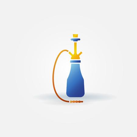 narghil�: Narghil� icona - vettore simbolo narghil� luminoso
