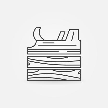 jack plane: Jack-plane icon - vector symbol Illustration