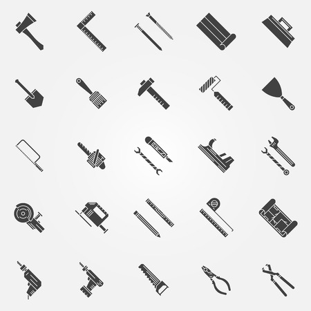 Tools icons -   of work tools logo or symbols