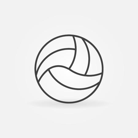 pelota de voleibol: Icono de Voleibol - vector de la bola en la l�nea estilo del arte, s�mbolo del deporte