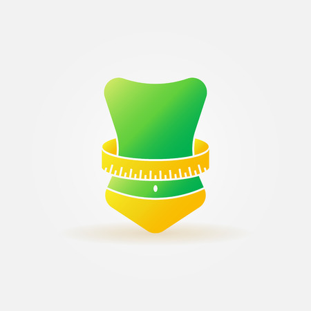 Weight loss icon - vector bright fitness symbol Vettoriali