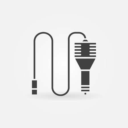 adapter: Car charger icon or logo - vector black power adapter symbol or design element Illustration
