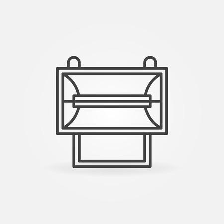 halogen: Halogen spotlight projector icon - vector thin line logo or symbol