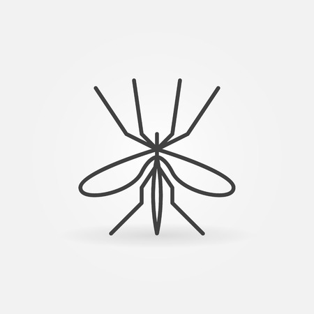 insect repellent: Mosquito icon or logo - vector thin line insect symbol