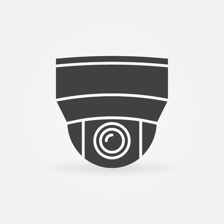ip camera: Security camera icon - vector black home surveillance camera logo