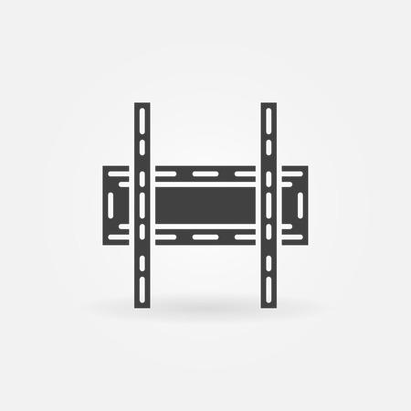 TV wall bracket icon or logo - black vector symbol Illustration