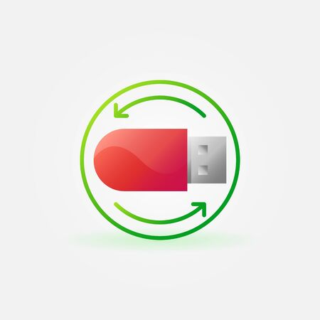 data recovery: Data recovery icon - vector information and data recovery concept symbol or logo Illustration