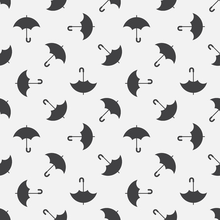 repeated: Umbrella seamless pattern - vector simple repeated texture