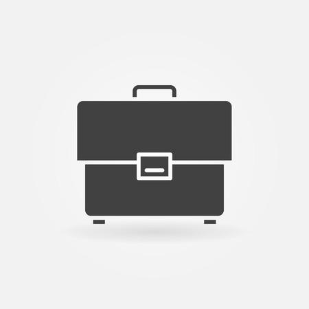 simple logo: Briefcase icon - vector dark simple symbol or logo