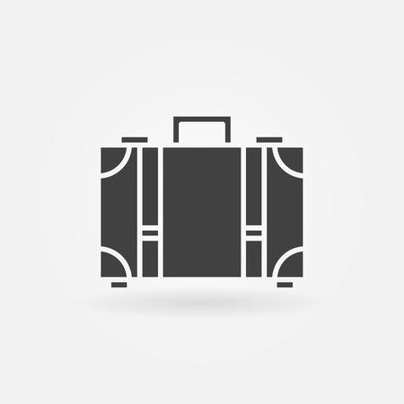 simple logo: Suitcase icon - vector luggage simple symbol or logo