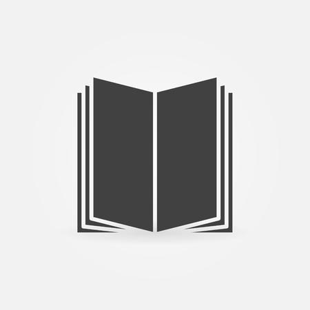 simple logo: Book icon - vector simple dark education symbol. Bookstore or library logo concept