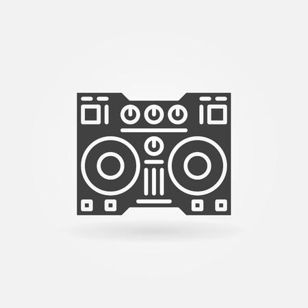 instrument panel: Digital DJ controller icon - vector simple dj sign or logo element Illustration