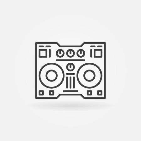 fader: DJ controller linear icon - vector thin line digital DJ equipment icon or logo