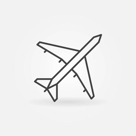 fuselage: Plane linear icon - vector aviation thin line symbol or logo