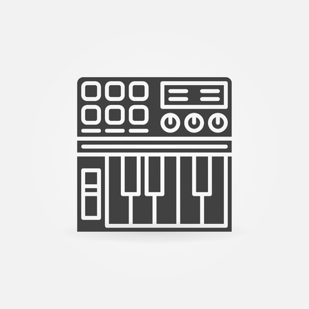 synthesizer: Synthesizer icon or logo - vector black simple symbol
