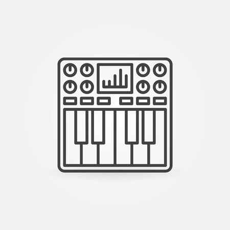 octave: Synthesizer icon or symbol - vector thin line black logo element