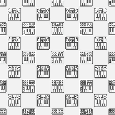 synthesizer: Synthesizer seamless pattern - vector simple music texture or background
