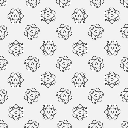 vector  molecular: Atoms seamless pattern - vector molecular science minimal texture
