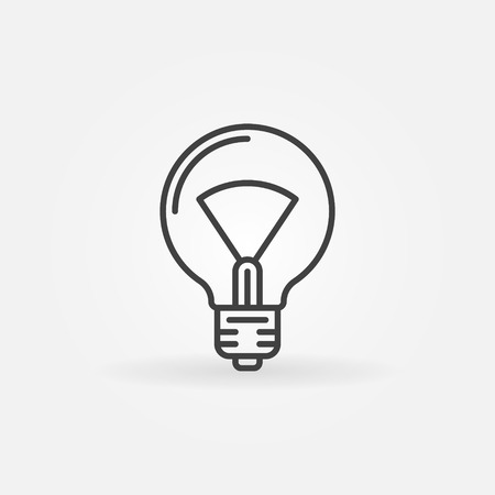 thin bulb: Bulb line icon - vector minimal idea or lightbulb thin line logo