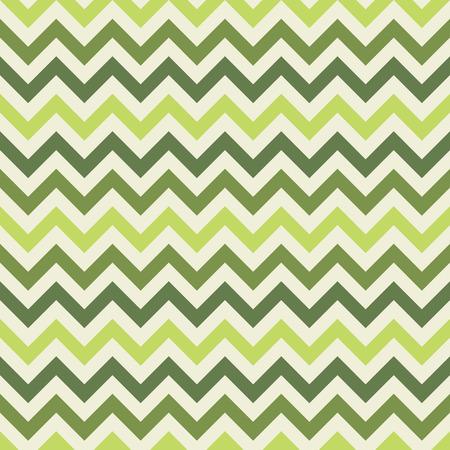 Green retro chevron seamless pattern - vector zig-zag fabric texture
