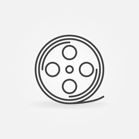 filmroll: Film reel linear icon - vector sign or logo