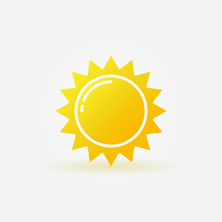 luz solar: Ícone abstrato do sol Ilustração