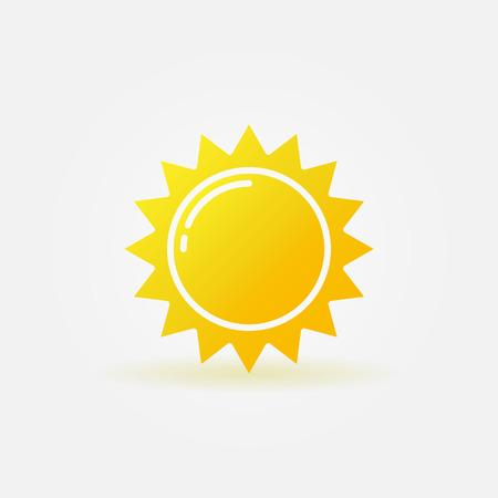 słońce: Streszczenie niedz ikona Ilustracja