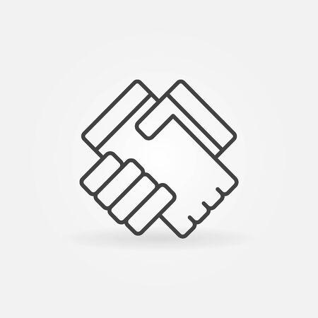 symol: Handshake linear icon - vector simple business handshake symol or   thin line style